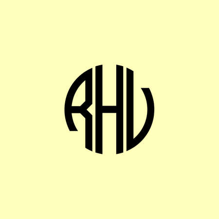 Creative Rounded Initial Letters RHV Logo. It will be suitable for which company or brand name start those initial.