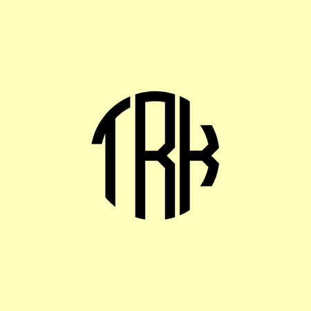 Creative Rounded Initial Letters TRK Logo. It will be suitable for which company or brand name start those initial. Logó