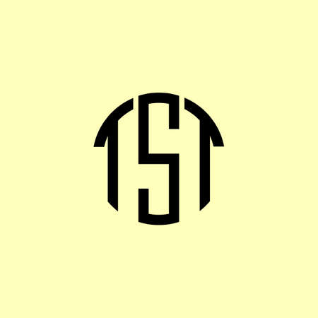 Creative Rounded Initial Letters TST Logo. It will be suitable for which company or brand name start those initial. Logó