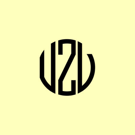 Creative Rounded Initial Letters UZV Logo. It will be suitable for which company or brand name start those initial.