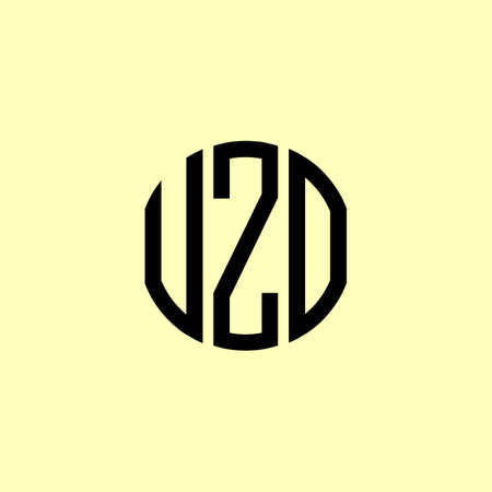 Creative Rounded Initial Letters UZO Logo. It will be suitable for which company or brand name start those initial.