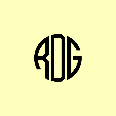Creative Rounded Initial Letters RDG Logo. It will be suitable for which company or brand name start those initial.