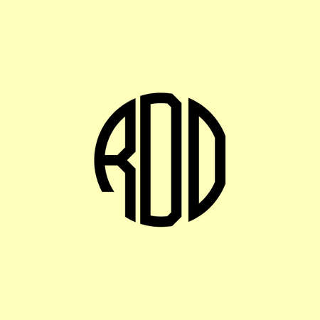 Creative Rounded Initial Letters RDO Logo. It will be suitable for which company or brand name start those initial.