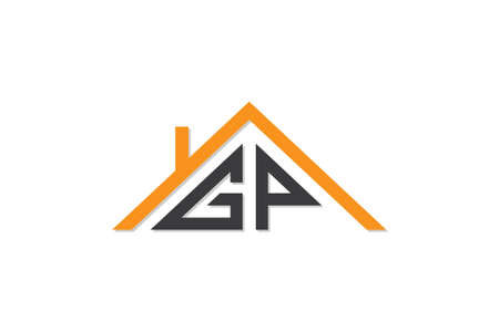 Creative Initial letters GP design for house or real estate