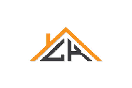 Creative Initial letters LK logo for house or real estate. This logo incorporate with letters and House roof. It will be suitable for which company or brand name start those initial. Logo