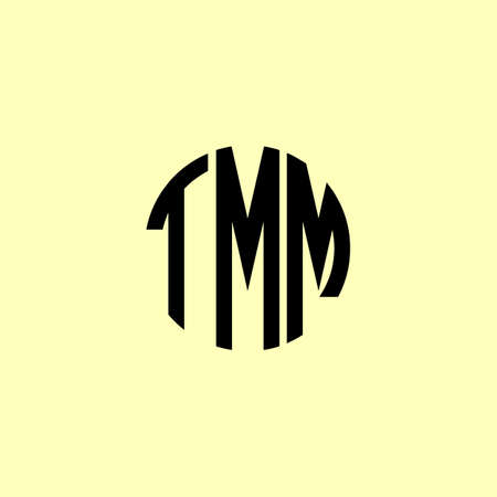 Creative Rounded Initial Letters TMM Logo. It will be suitable for which company or brand name start those initial. Logo