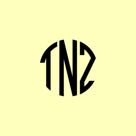 Creative Rounded Initial Letters TNZ Logo. It will be suitable for which company or brand name start those initial.