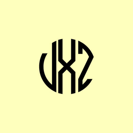 Creative Rounded Initial Letters VXZ Logo. It will be suitable for which company or brand name start those initial.