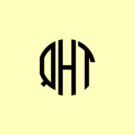 Creative Rounded Initial Letters QHT Logo. It will be suitable for which company or brand name start those initial.