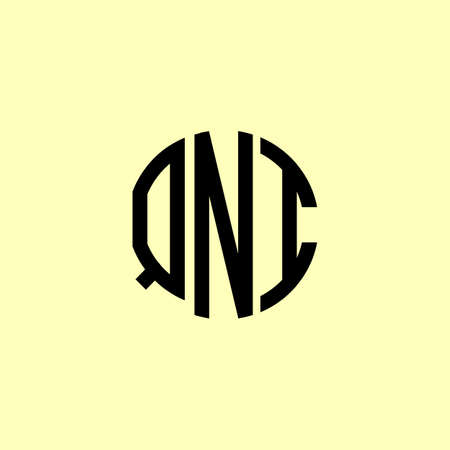 Creative Rounded Initial Letters QNI Logo. It will be suitable for which company or brand name start those initial. Logó