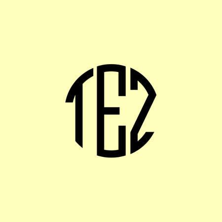 Creative Rounded Initial Letters TEZ Logo. It will be suitable for which company or brand name start those initial. Logó