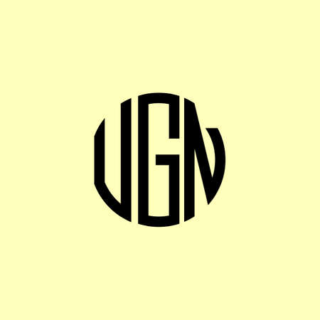 Creative Rounded Initial Letters UGN. It will be suitable for which company or brand name start those initial.