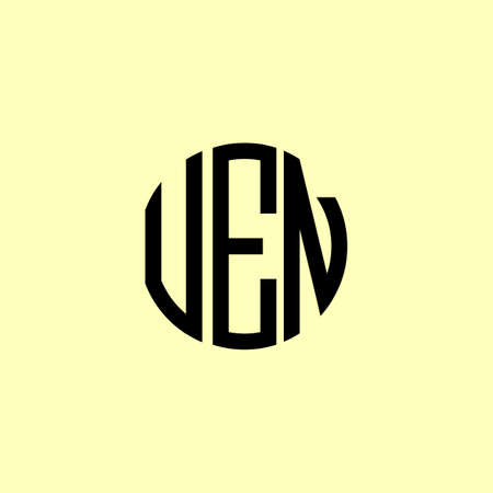 Creative Rounded Initial Letters UEN Logo. It will be suitable for which company or brand name start those initial.