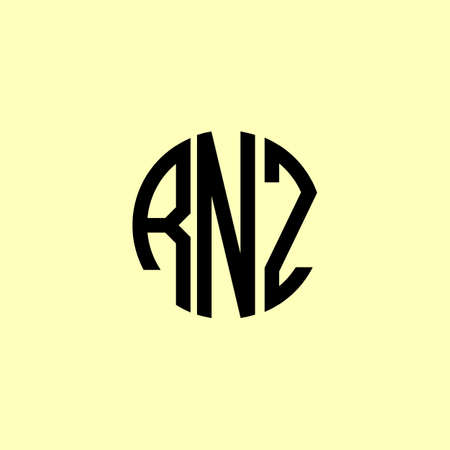 Creative Rounded Initial Letters RNZ Logo. It will be suitable for which company or brand name start those initial. Logó