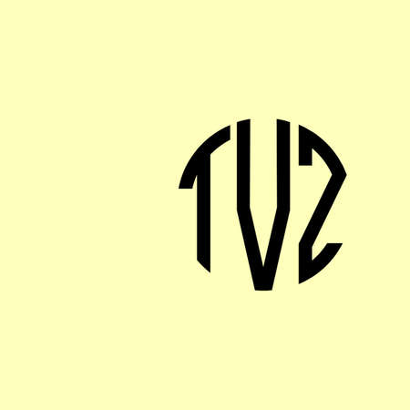Creative Rounded Initial Letters TVZ Logo. It will be suitable for which company or brand name start those initial. Logó