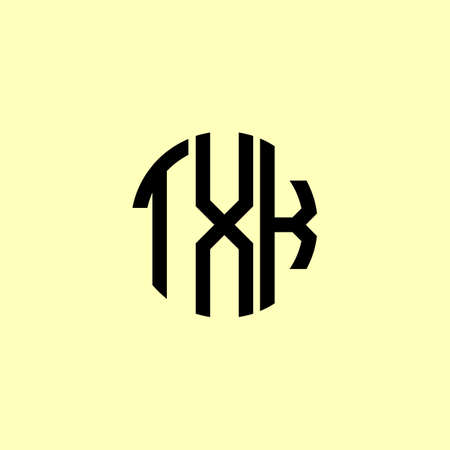 Creative Rounded Initial Letters TXK Logo. It will be suitable for which company or brand name start those initial.