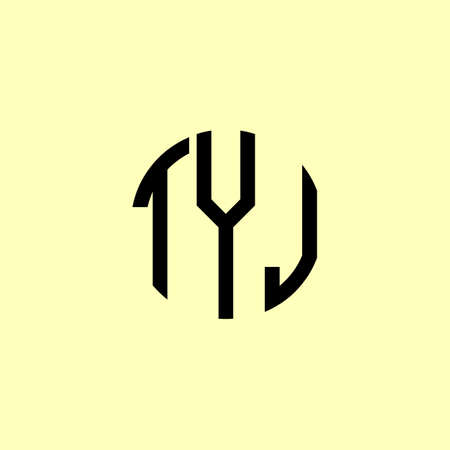 Creative Rounded Initial Letters TYJ Logo. It will be suitable for which company or brand name start those initial.