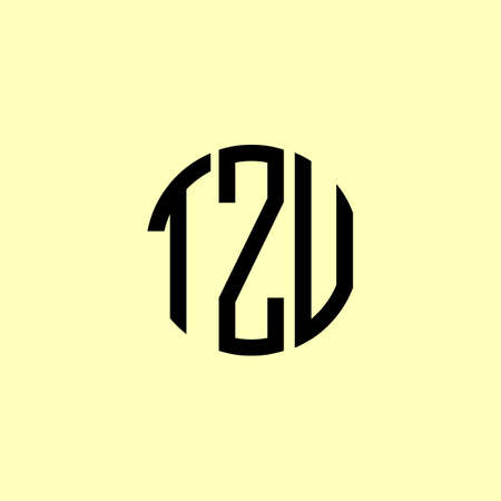 Creative Rounded Initial Letters TZV Logo. It will be suitable for which company or brand name start those initial.
