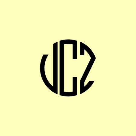 Creative Rounded Initial Letters UCZ Logo. It will be suitable for which company or brand name start those initial.