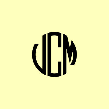Creative Rounded Initial Letters UCM Logo. It will be suitable for which company or brand name start those initial. Ilustração