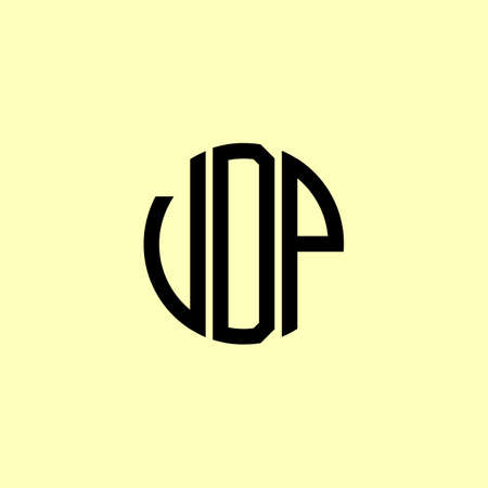 Creative Rounded Initial Letters VDP Logo. It will be suitable for which company or brand name start those initial.