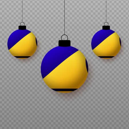 Realistic Tokelau Flag with flying light balloons. Decorative elements for national holidays. Ilustração