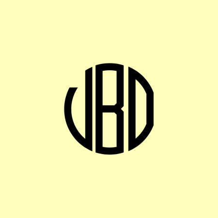 Creative Rounded Initial Letters VBO Logo. It will be suitable for which company or brand name start those initial.
