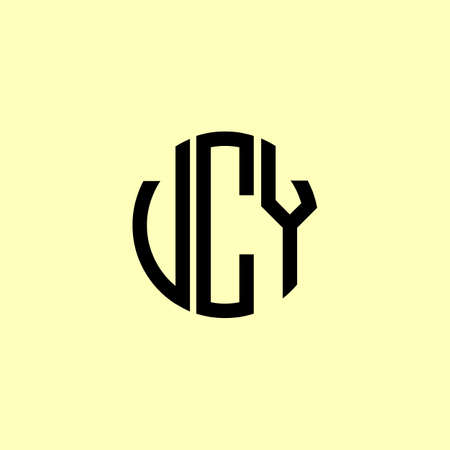 Creative Rounded Initial Letters UCY Logo. It will be suitable for which company or brand name start those initial.