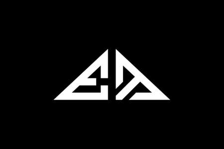 Minimal Triangle Initial Letters EM Logo. It will be suitable for which company or brand name start those initial.