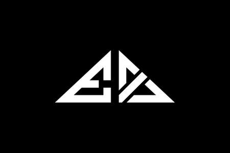 Minimal Triangle Initial Letters EX Logo. It will be suitable for which company or brand name start those initial. Ilustração