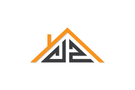 Creative Initial letters VZ logo for house or real estate. This logo incorporate with letters and House roof. It will be suitable for which company or brand name start those initial.