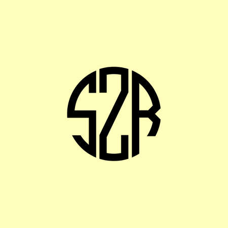 Creative Rounded Initial Letters SZR Logo. It will be suitable for which company or brand name start those initial.