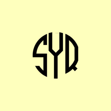 Creative Rounded Initial Letters SYQ Logo. It will be suitable for which company or brand name start those initial. Logó