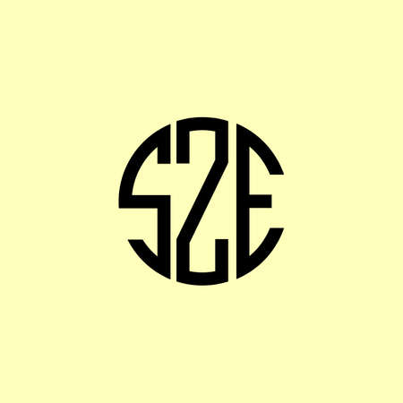 Creative Rounded Initial Letters SZE Logo. It will be suitable for which company or brand name start those initial.
