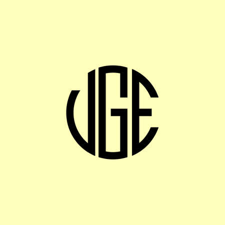 Creative Rounded Initial Letters VGE Logo. It will be suitable for which company or brand name start those initial. Logó