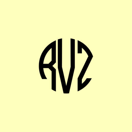 Creative Rounded Initial Letters RVZ Logo. It will be suitable for which company or brand name start those initial.