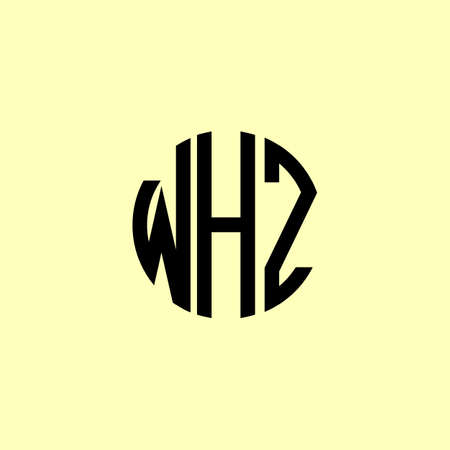 Creative Rounded Initial Letters WHZ Logo. It will be suitable for which company or brand name start those initial.
