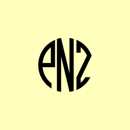 Creative Rounded Initial Letters PNZ Logo. It will be suitable for which company or brand name start those initial.