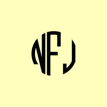 Creative Rounded Initial Letters NFJ Logo. It will be suitable for which company or brand name start those initial.