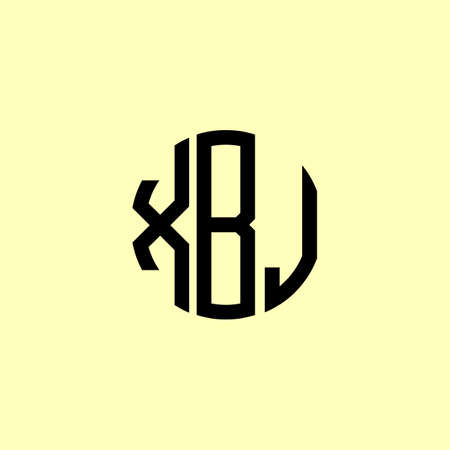 Creative Rounded Initial Letters XBJ Logo. It will be suitable for which company or brand name start those initial. Logó