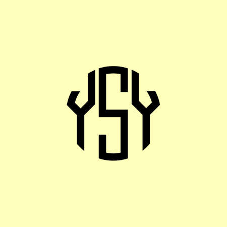 Creative Rounded Initial Letters YSY Logo. It will be suitable for which company or brand name start those initial.