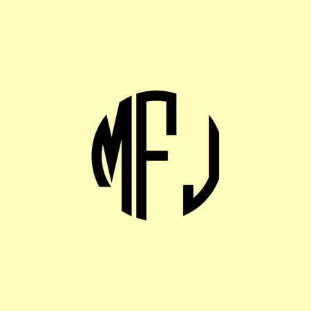 Creative Rounded Initial Letters MFJ Logo. It will be suitable for which company or brand name start those initial.