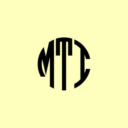 Creative Rounded Initial Letters MTI Logo. It will be suitable for which company or brand name start those initial.
