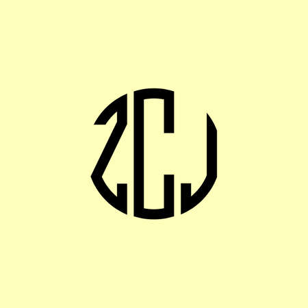 Creative Rounded Initial Letters ZCJ. It will be suitable for which company or brand name start those initial.