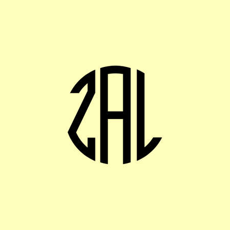 Creative Rounded Initial Letters ZAL. It will be suitable for which company or brand name start those initial.