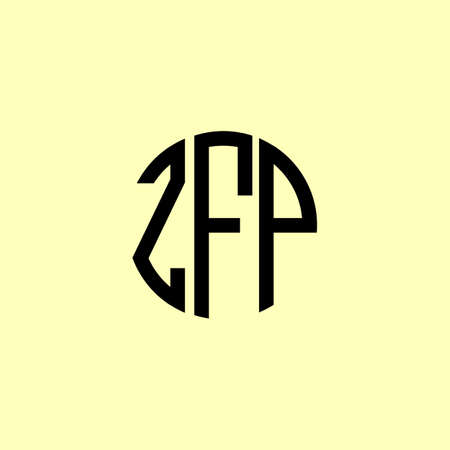 Creative Rounded Initial Letters ZFP Logo. It will be suitable for which company or brand name start those initial. Illusztráció