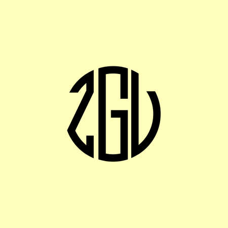 Creative Rounded Initial Letters ZGU Logo. It will be suitable for which company or brand name start those initial.