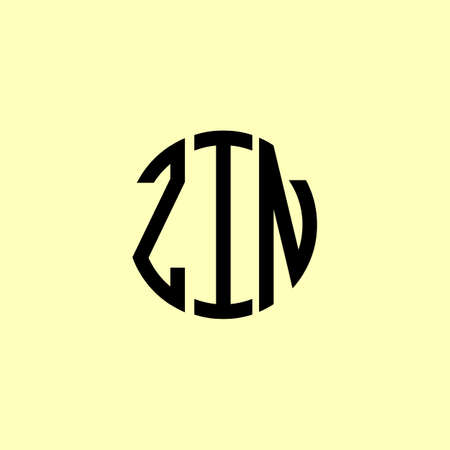 Creative Rounded Initial Letters ZIN Logo. It will be suitable for which company or brand name start those initial.