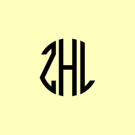 Creative Rounded Initial Letters ZHL Logo. It will be suitable for which company or brand name start those initial.