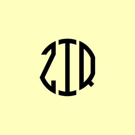 Creative Rounded Initial Letters ZIQ Logo. It will be suitable for which company or brand name start those initial.